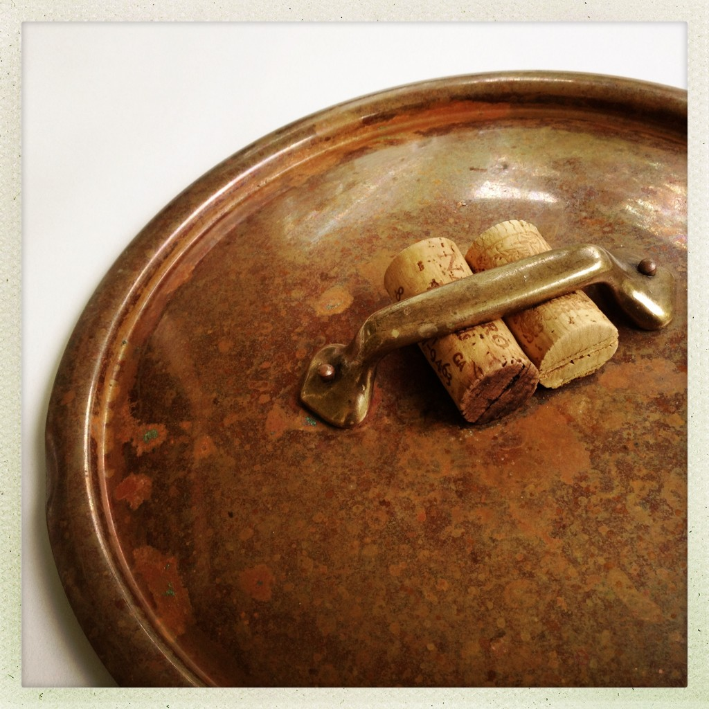 corks on a pot lid